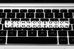 Technogeddon symbol block letters on keyboard