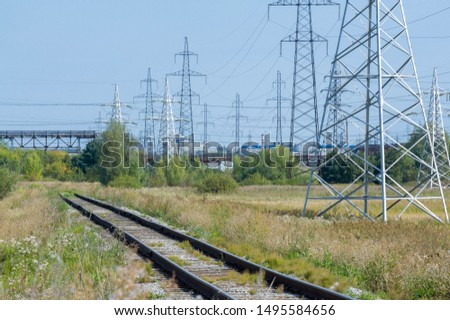technogenic landscape, high-voltage power lines. The natural complex here has undergone an intensive technogenic impact during the entire period of the existence of the plants #1495584656