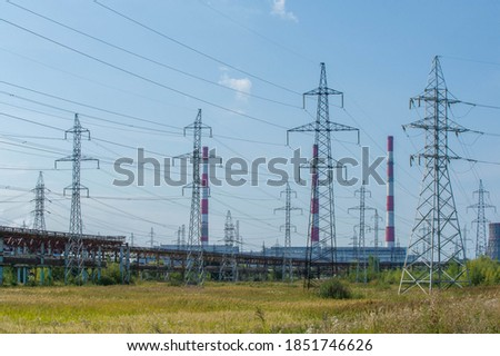 technogenic landscape, high-voltage power lines. The natural complex here has undergone an intensive technogenic impact during the entire period of the existence of the plants