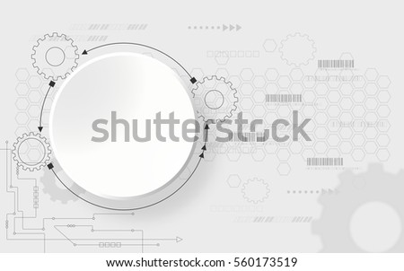 technology background futuristic shape with computer generated communication concept, various technological elements with structure pattern backdrop abstract background
