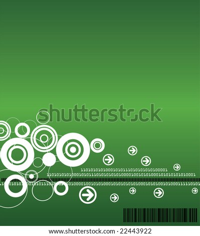 Technology Background - Raster Version (Available in Blue and Green) - stock photo
