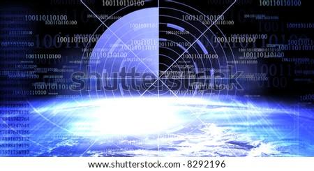 Technology banner - stock photo