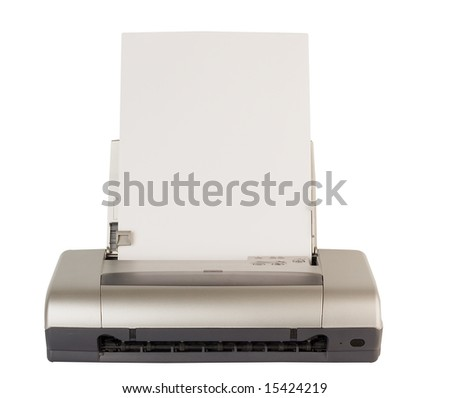 technology computer printinter with paper for edit