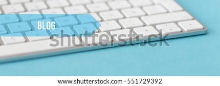 TECHNOLOGY CONCEPT BANNER: BLOG #551729392