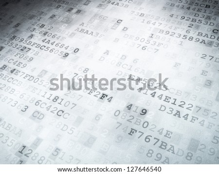 Technology concept: binary code digital background, 3D render