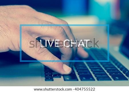 Technology Concept: LIVE CHAT #404755522