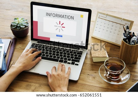 Technology concept on a device screen