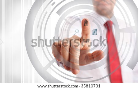 technology (graphic designs made by me, focus point on nearest part of hands)