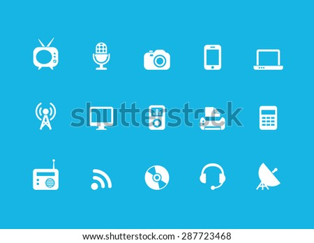 Technology icons set