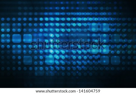 Technology Infrastructure as a Blue Abstract Art