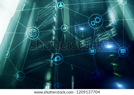 Technology infrastructure cloud computing and communication. Internet concept. #1209137704