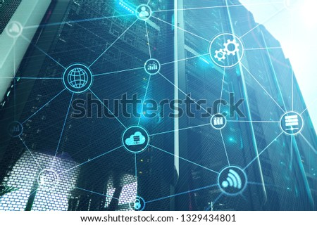 Technology infrastructure cloud computing and communication. Internet concept. #1329434801