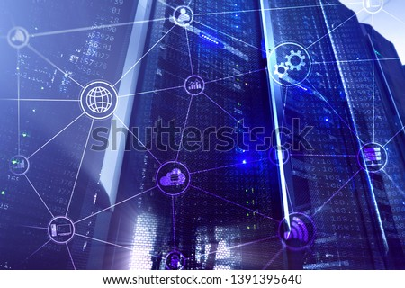 Technology infrastructure cloud computing and communication. Internet concept. #1391395640