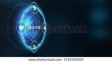 Technology, Internet and network concept. virtual button. Expertise business consulting concept.    3d illustration                            Сток-фото ©