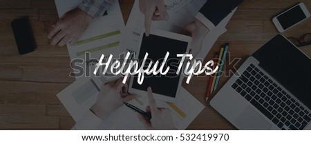 TECHNOLOGY INTERNET TEAMWORK HELPFUL TIPS CONCEPT