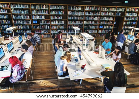 Technology Library Student Learning Concept