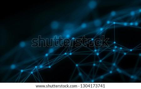 Technology modern dynamic plasma energy futuristic virtual technology background,  digitally generated image. 3D illustration