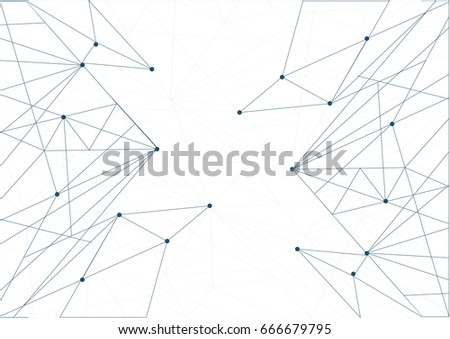Technology network diagram link. white illustration background