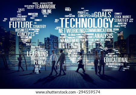 Technology Networking Connection Global Communication Concept #294559574