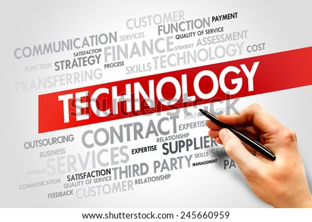 TECHNOLOGY related items words cloud, business concept