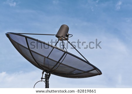 Technology, Satellite dish and blue sky