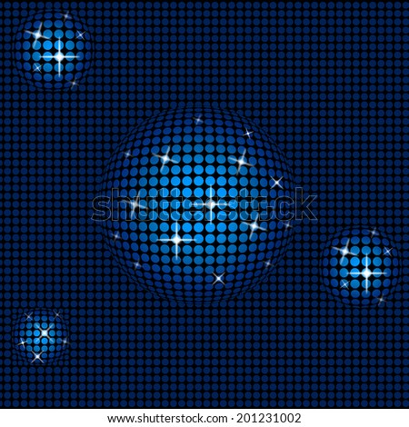 Technology Sphere Representing Starred Orbs And Round