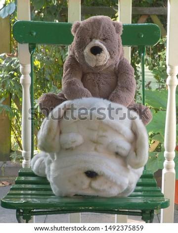 Teddy bear and cuddly toy bulldog furry friends #1492375859