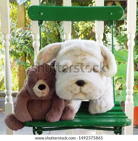 Teddy bear and cuddly toy bulldog furry friends #1492375865
