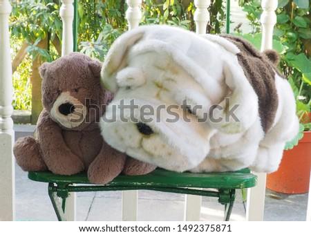 Teddy bear and cuddly toy bulldog furry friends #1492375871