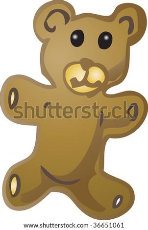 Teddy bear baby item illustration, hand drawn sketch