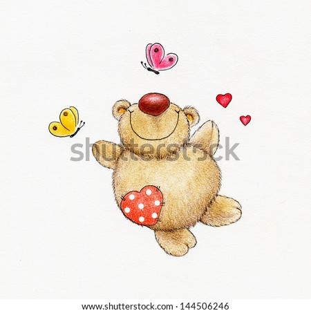Teddy bear fall in love #144506246