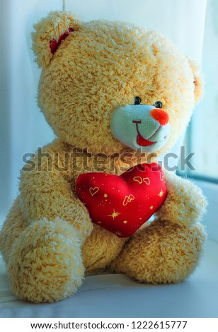 teddy bear, heart, love, red heart, saint valentine's day, senses, toys #1222615777