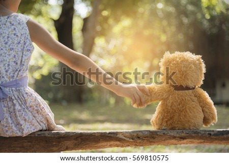 teddy bear is a best friend for ...