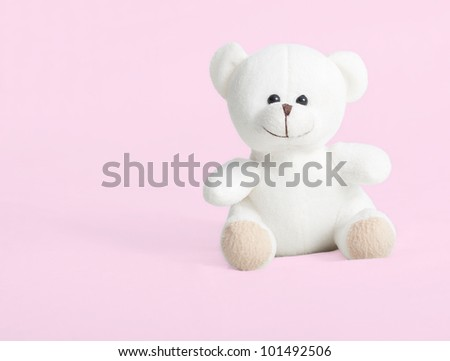 teddy bear isolated on pink