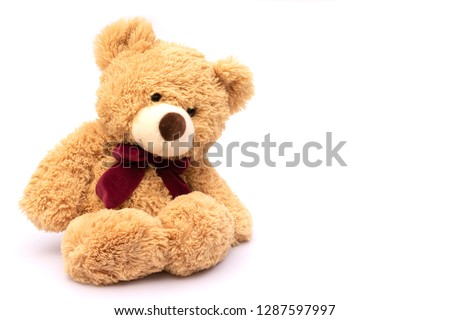Teddy bear isolated on white background #1287597997