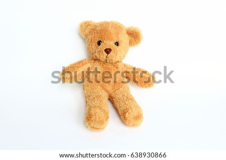 Teddy bear on white background. #638930866