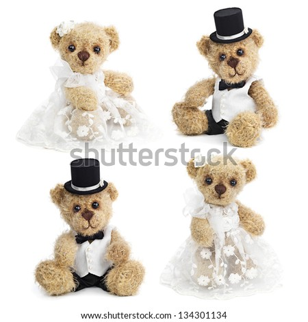 ShutterStock Teddy bear wedding couple 134301134