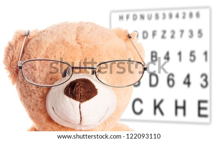 Teddy Bear with Glasses at the Eye Doctor / Teddy Bear