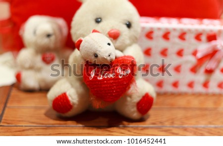 Teddy bear with red heart. Valentine's Day #1016452441
