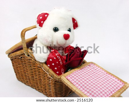 Cute Teddy Bear With Red Roses Teddy Bear With Red Valentine