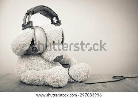 teddy bear with retro...
