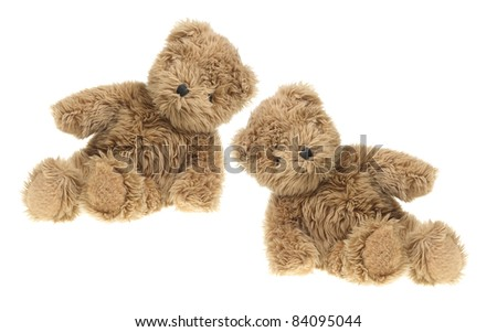 Teddy Bears on White Background