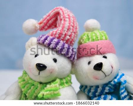 Teddy bears together to enjoy Christmas Foto stock ©