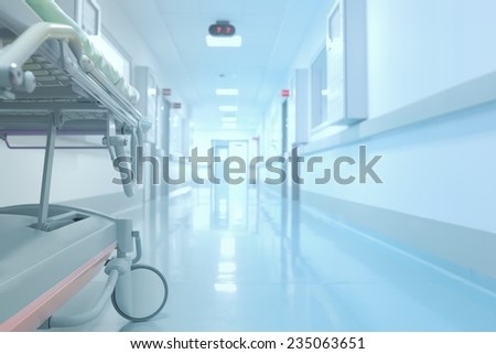 Tedious waiting in the hospital corridor