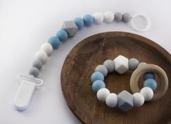 Teehing necklace teething ring nursing necklace
