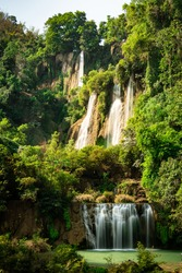 Teelorsu waterfall in Umphang widlife sanctuary.Thailand
