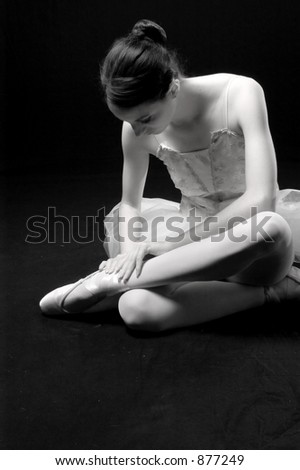 Teen ballerina in the studio