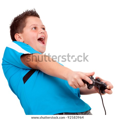 stock photo teen boy having fun playing with video console isolated on white 92583964 Tags: free legal xxx pic., petite asian girl pics