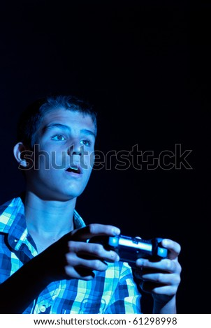 Teen gamer - stock photo