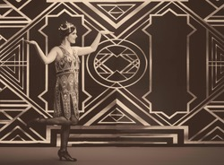 Teen Girl in a vintage 1920's Flapper outfit